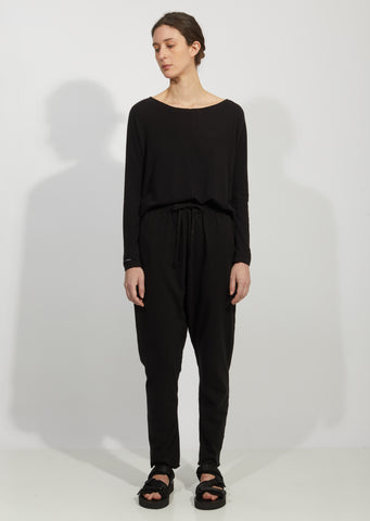 New Basic Cotton Jersey Trousers