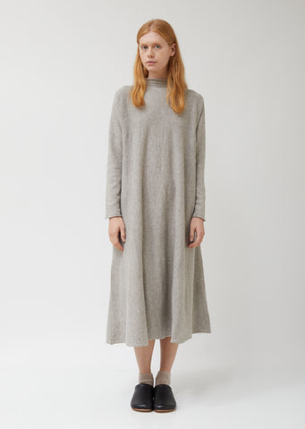 Alpaca Cotton Blend Flare Dress