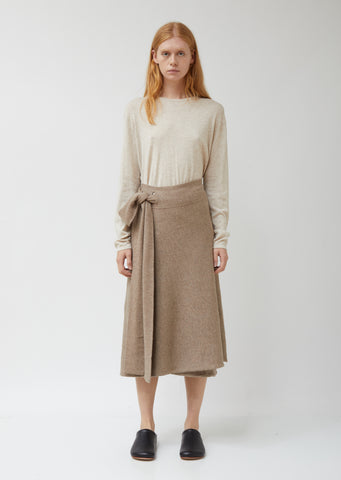 Alpaca Cotton Blend Tie Skirt