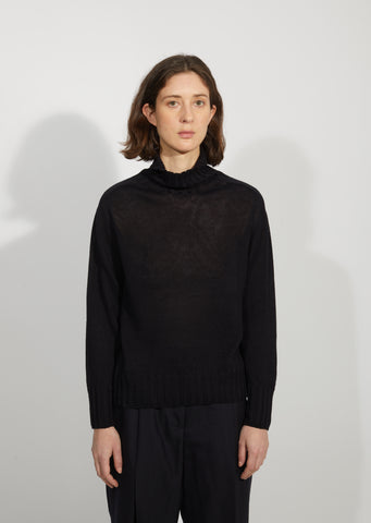 Linen & Cotton Wide Rollneck Sweater
