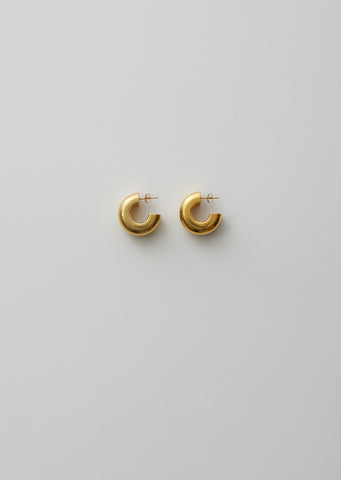 Gold Tire Earrings