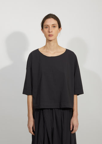 Cotton Taffeta Short T-Shirt