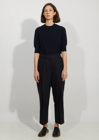 Wool Deep Pleat Trousers