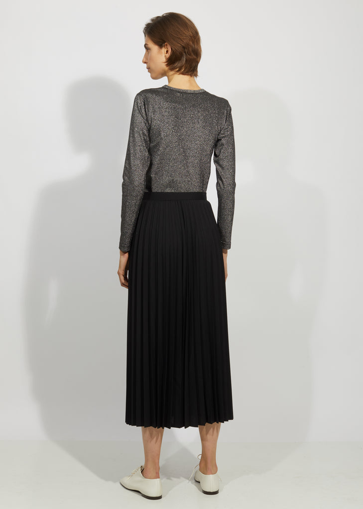 Wool Polyester Tropical Pleated Skirt