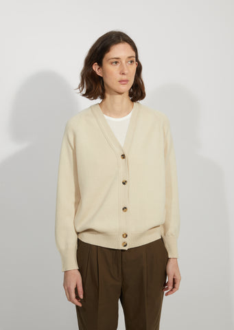 Cashmere & Cotton V-Neck Cardigan