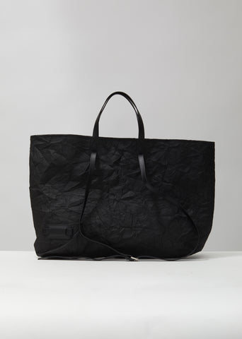Crinkle Leather Tote
