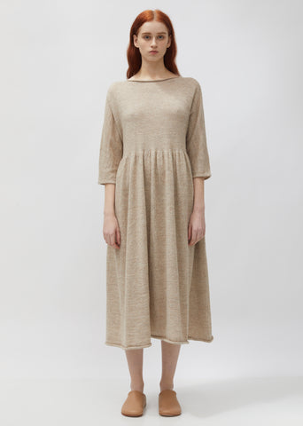 Alpaca & Linen Tier Caftan Sweater Dress