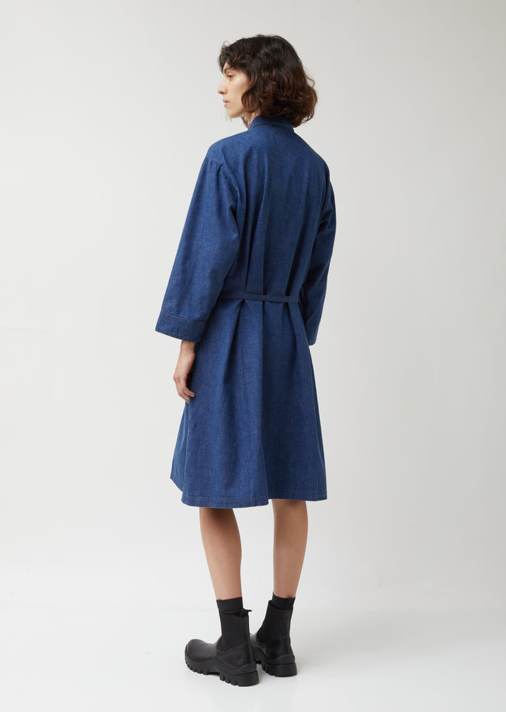 Denim Long Shirt Dress