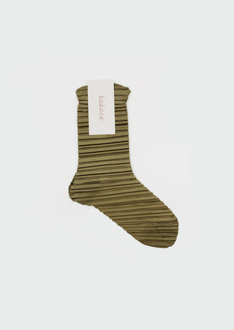 Crushed Socks — Gold Khaki