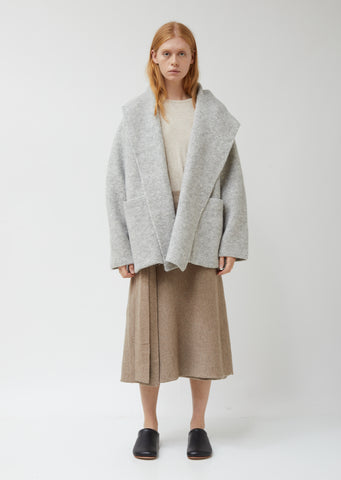 Double Face Alpaca Wool Coat
