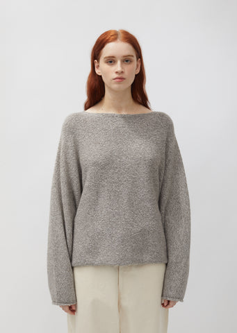 Baby Alpaca & Cotton Horizontal Dolman Sweater