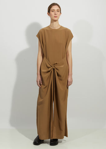 Silk Knot Jumpsuit