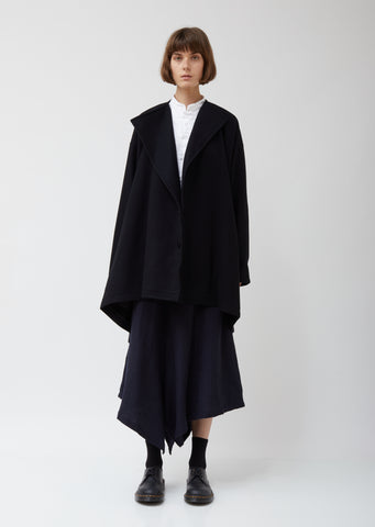 O-collarless Short Coat