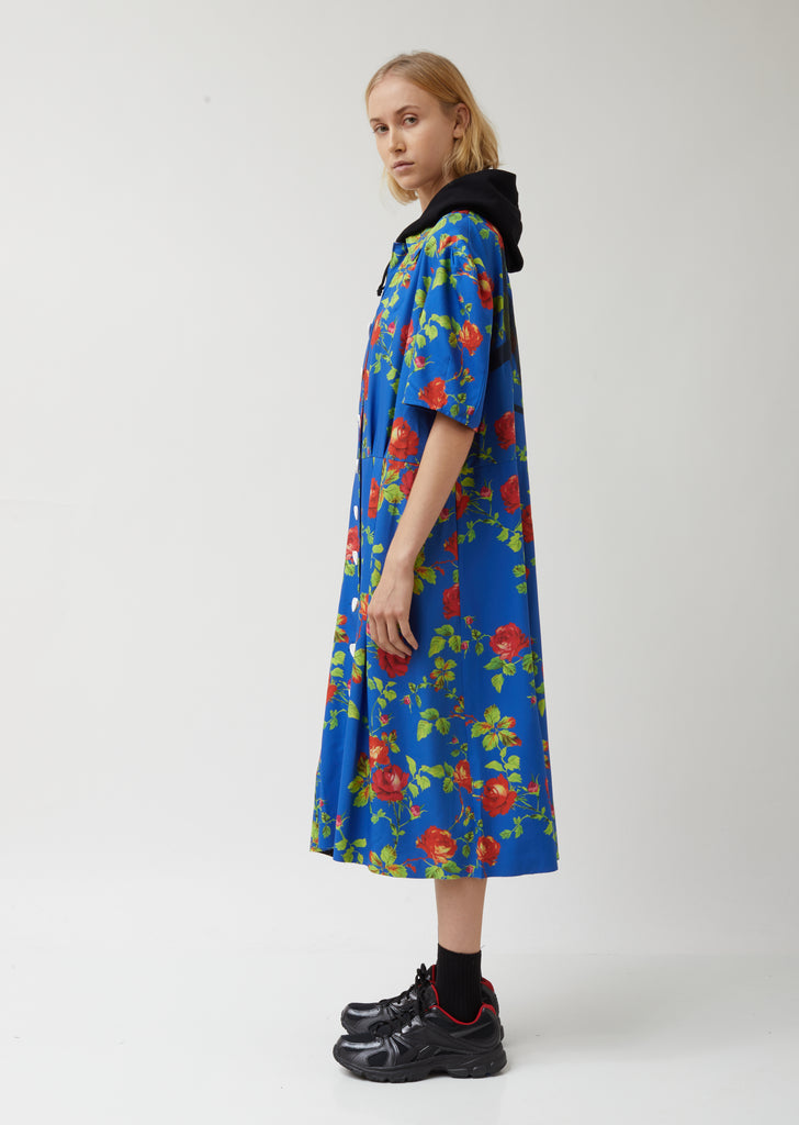 Hooded Flower Dress
