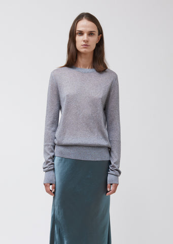 Pierre Lurex Melange Crewneck Sweater