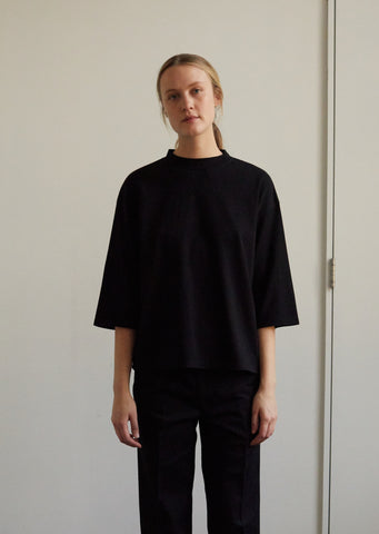 Women Cotton Cashmere Piped Oversized Half Sleeve Tee