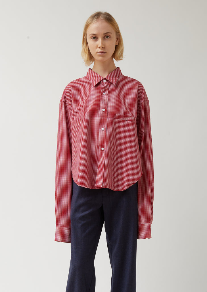 Red Check Cut-Up Shirt