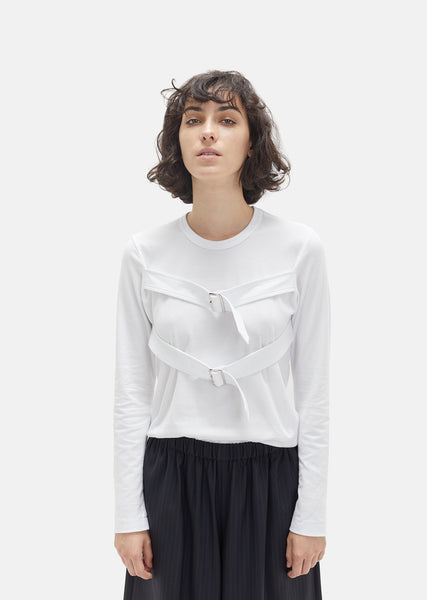 Cotton Jersey Double Belt Tee