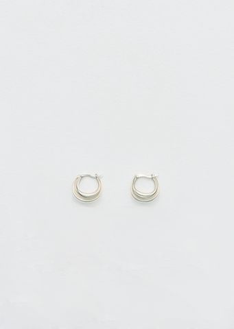 Gold Triple Francois Hoops