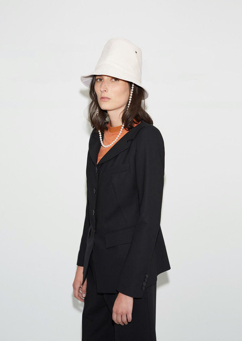 Tall Leather Hat