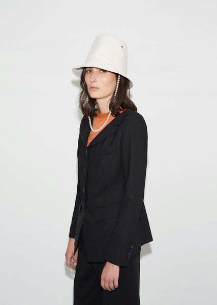 Aalto Tall Leather Hat La Garconne
