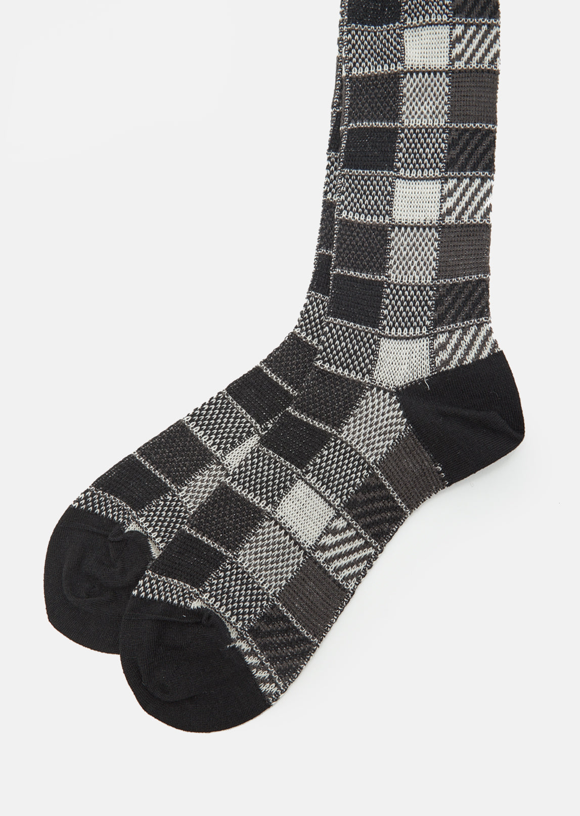 Block Check Socks