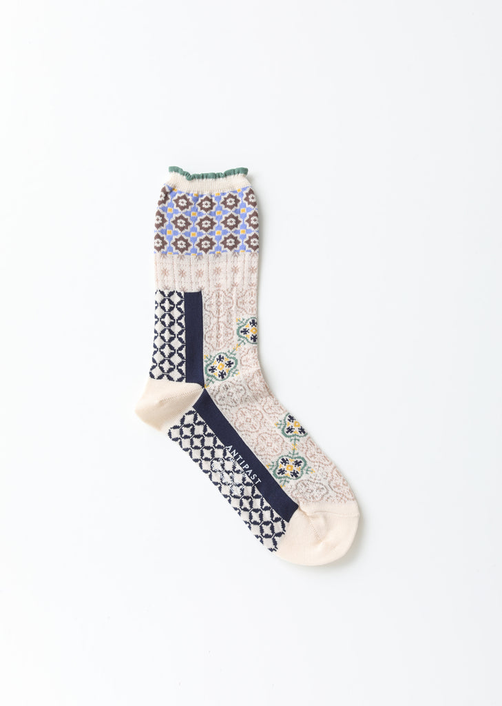 Tiles Stretch Cotton Socks