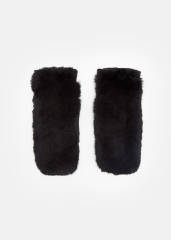 Fur Fingerless Gloves