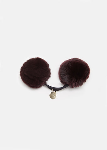 Rabbit Pom Pom Hair Tie
