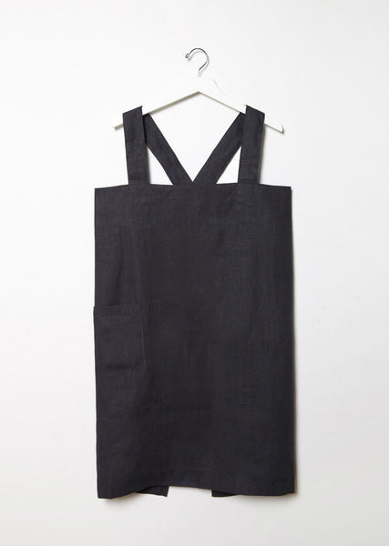 Linen Square Cross Apron