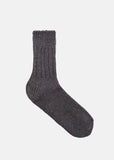 Linen-Cotton Mix Socks in Grey