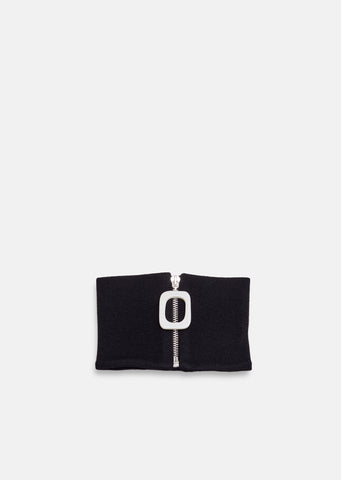 Neckband With Zip Detail