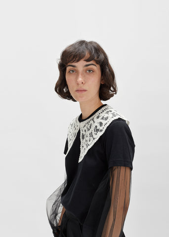 Lace Appliqué Collar