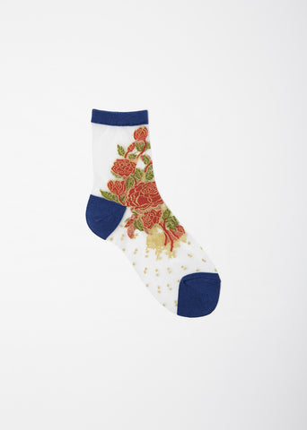 See Through Flower Socks