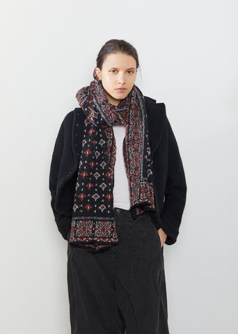 Compressed Wool Bandana Scarf