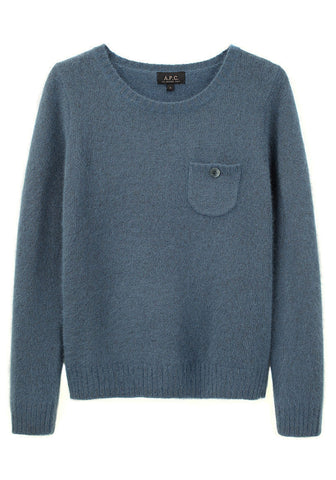 Buttoned Pocket Sweater
