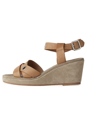 Eyelet Wedge Sandal