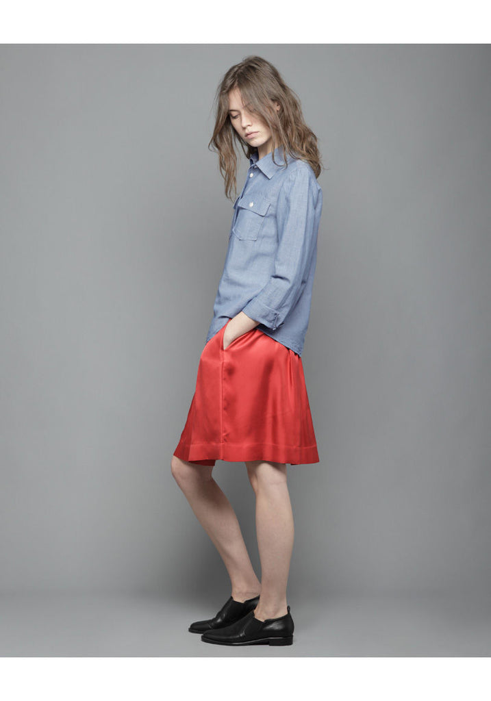 Pleated Rouge Skirt