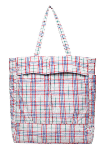 Quilted Plaid Tote