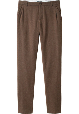 Pleated Flannel Pant