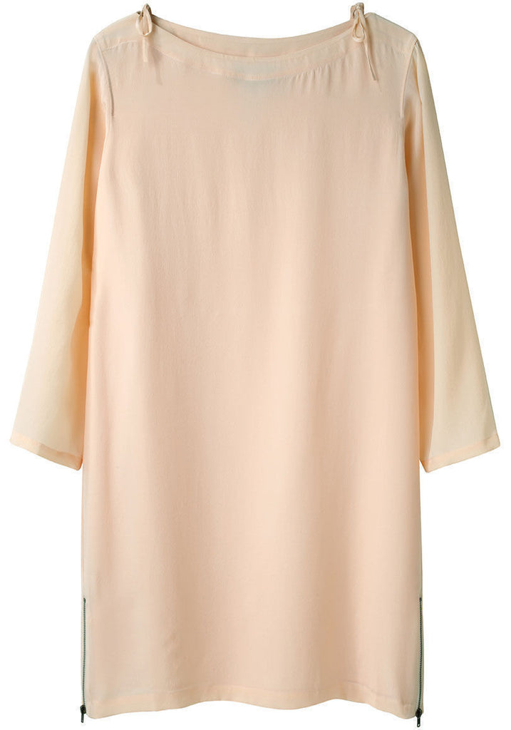 Silk Boatneck Dress