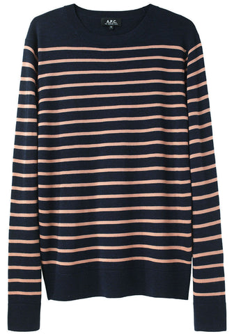 Striped Fine Merino Pullover