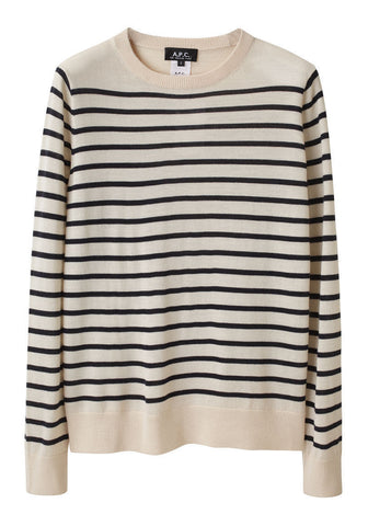 Striped Merino Pullover