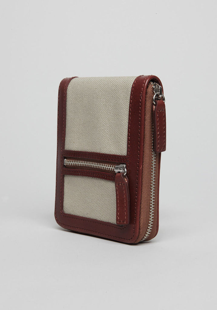 Zipped Canvas Wallet