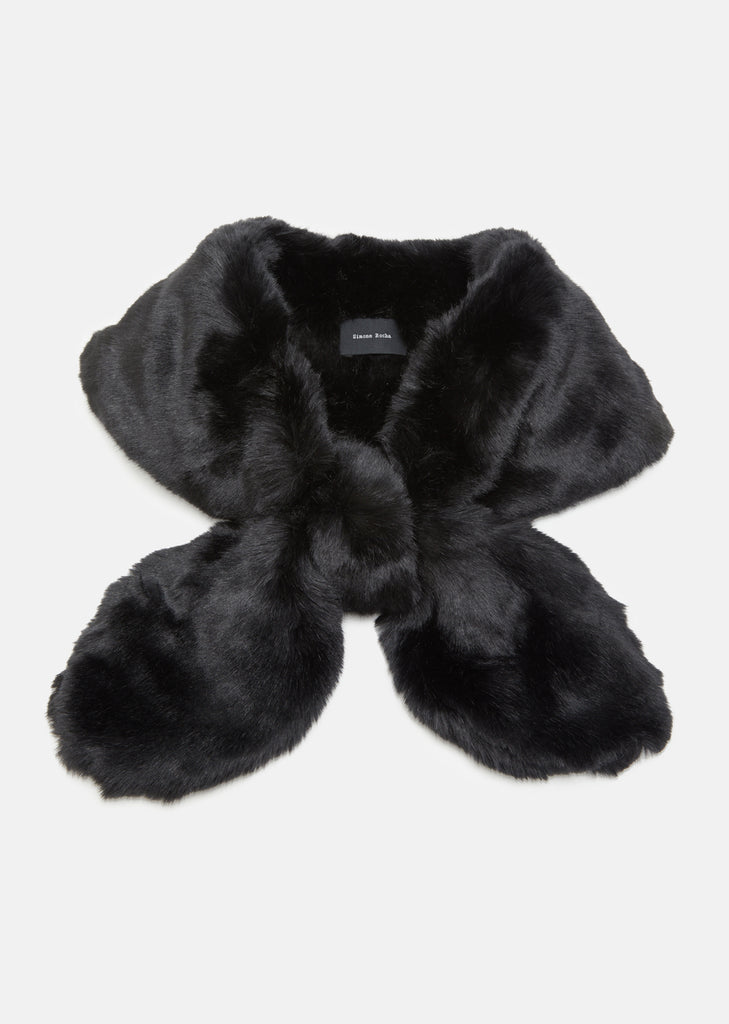 Long Fur Bow Scarf