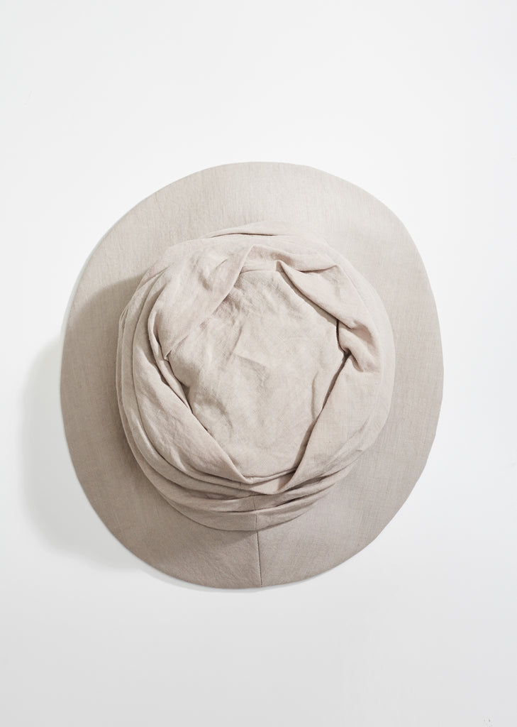 Gathered Linen Hat