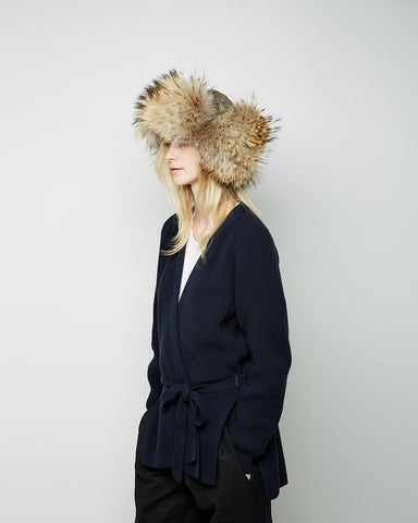 Raccoon Fur Chapka Hat