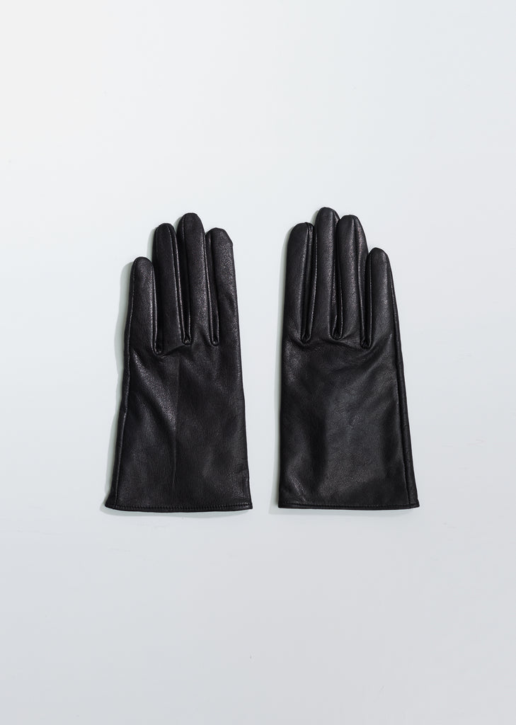 Short Leather Fitted Gloves