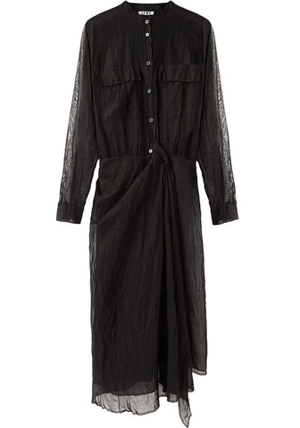 Spin Crinkled Shirtdress