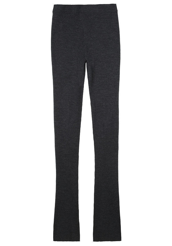 Wool Ribbed Leggings